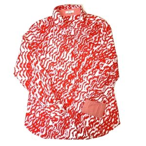 Tyler Boe Red and White Button Down Shirt Sz 8 New